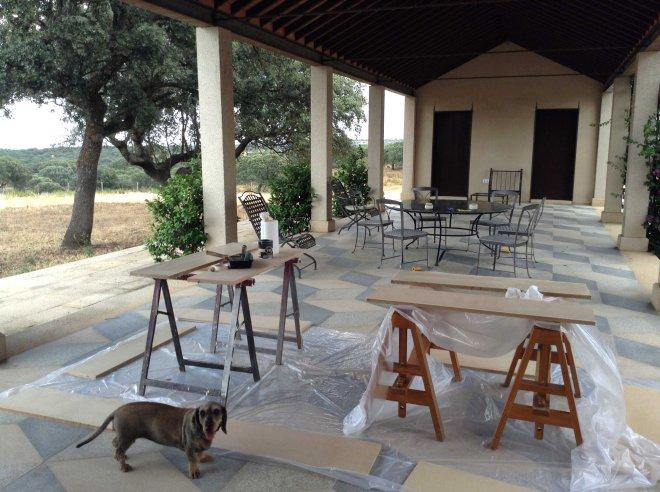 Pintura decorativa finca Extremadura 1