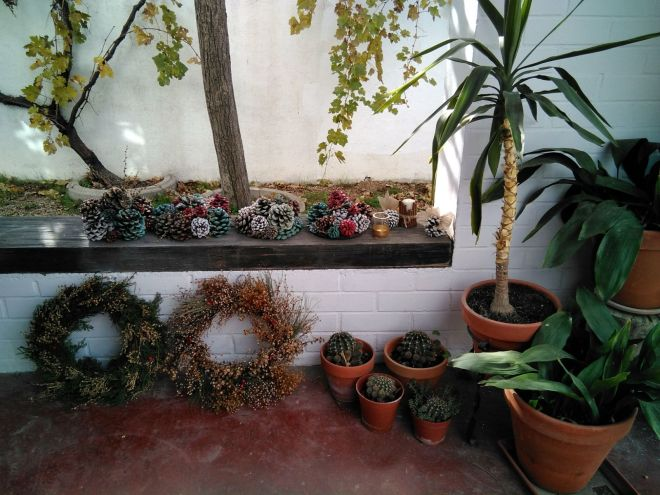 coronas adviento elementos naturales decoracion navidad diy workshop toledo