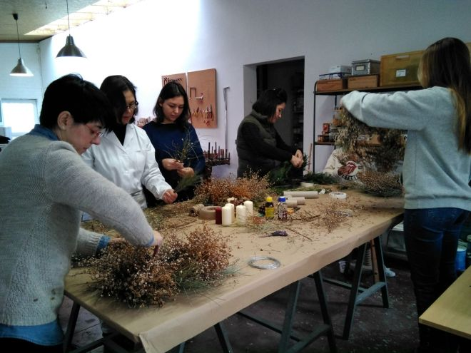taller navidad decoracion workshop toledo 3